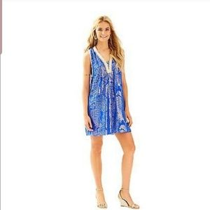 LILLY PULITZER TANNER SILK DRESS XS